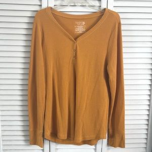 Time and Tru Plus Size Waffle Knit Long Sleeve